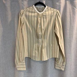 RRL / Striped Pleated Waist Blouse / 12 (small)